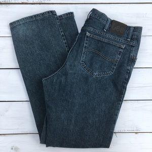 LEE Regular Fit Straight Dark wash jeans 38x34
